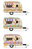 Fast food trailer   Stock Vector Graphics