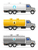 Vector clipart: cargo truck with tank for transporting liquids