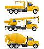 Vector clipart: cargo trucks intended for construction