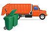 cargo truck garbage removal concept