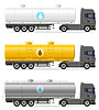 truck semi trailer with tank for transporting