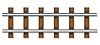 Vector clipart: railway rails and wooden sleepers