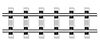 Vector clipart: railway rails and concrete sleepers