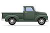Vector clipart: old retro car pickup