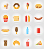 Vector clipart: fast food flat icons with shadow