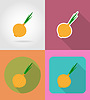 onion vegetable flat icons with shadow