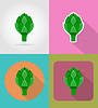 Vector clipart: artichoke vegetable flat icons with shadow