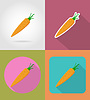 Vector clipart: carrots vegetable flat icons with shadow