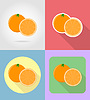 Vector clipart: orange fruits flat set icons with shadow
