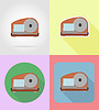 Vector clipart: slicer household appliances for kitchen flat icons
