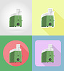 Vector clipart: juicer household appliances for kitchen flat icons