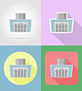 Vector clipart: extract hood household appliances for kitchen flat