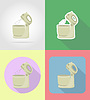 Vector clipart: mixer household appliances for kitchen flat icons