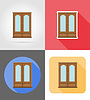 Vector clipart: cupboard furniture set flat icons
