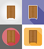 Vector clipart: wardrobe furniture set flat icons