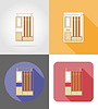 Vector clipart: furniture hall set flat icons
