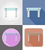 table furniture set flat icons