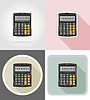 Vector clipart: calculator stationery equipment set flat icons