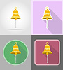 ship bell flat icons