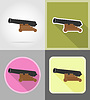Vector clipart: antique cannon flat icons