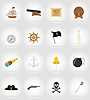 Vector clipart: pirate flat icons