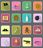 pirate flat icons