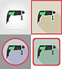 Vector clipart: electric drill tools for construction and repair