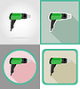 Vector clipart: electric dryer tools for construction and repair