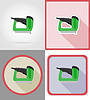 Vector clipart: electric stapler tools for construction and repair