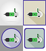 Vector clipart: electric grinder tools for construction and repair