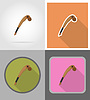 Vector clipart: mace wild west flat icons