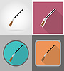 Vector clipart: rifle wild west flat icons