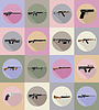 Modern weapon firearms flat icons   Stock Vector Graphics