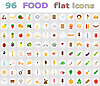 Vector clipart: food flat icons