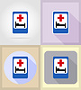 medical objects and equipment flat icons