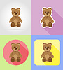 baby toys and accessories flat icons