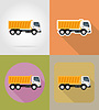 tipper truck for construction flat icons