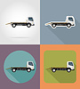 Vector clipart: tow truck for transportation faults and emergency