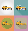 Vector clipart: grader for road works flat icons