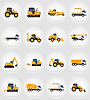 Vector clipart: automobile transport for repair and construction