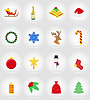 Vector clipart: christmas and new year flat icons