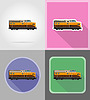 Vector clipart: railway locomotive train flat icons