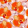 бесшовный цветочный фон с орхидеями