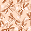 Vector clipart: Dragonfly seamless pattern