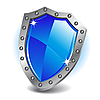 Vector clipart: Blue shield