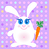 Cute rabbits with carrot