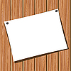 Vector clipart: Paper on wooden wall