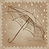ID 3045694 | Parasol w deszczu | Stockowa ilustracja wysokiej rozdzielczości | KLIPARTO