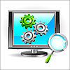 Vector clipart: Monitor settings icon