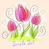 Vector clipart: Cute floral card